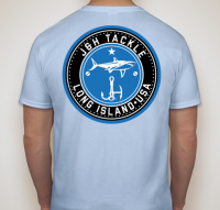 J&H Tackle Circle Logo Tee Back Light Blue