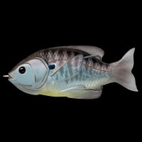 LIVETARGET Sunfish Hollow Body Blue Metallic Bluegill