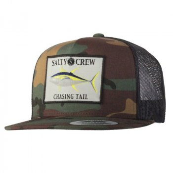 Salty Crew Ahi Patched Trucker Hat Camo
