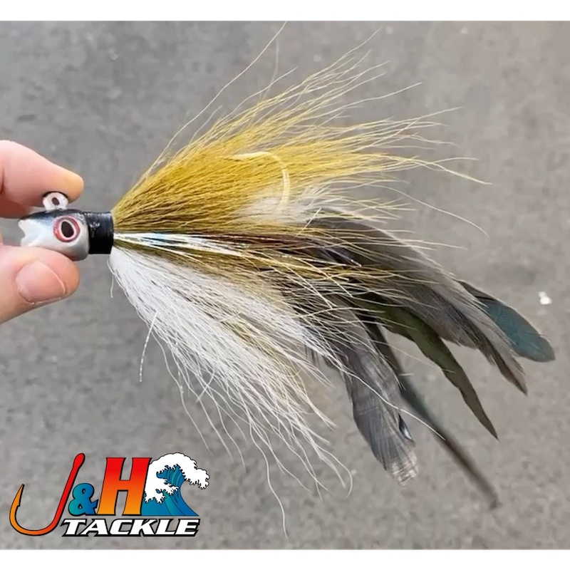 1 S/&S John Skinner Smiling Bill Bucktail Jig 1 1//2 oz Chartreuse COLOR DISCOUNTS