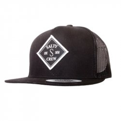 Salty Crew Tippet Trucker Hat Black