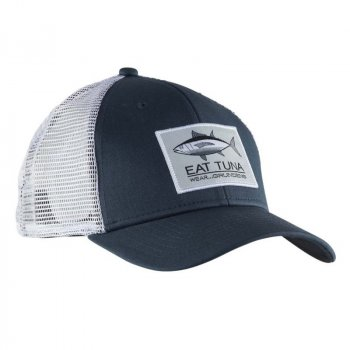 Grundens Eat Tuna Trucker Hat Dark Slate