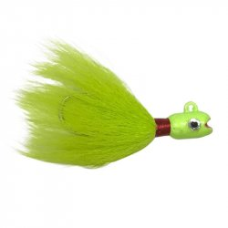 S&S John Skinner Swing Hook Striped Bass Bucktails Chartreuse