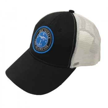 J&H Tackle Circle Logo Trucker Hat Angle