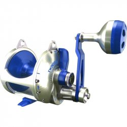 Accurate Boss Valiant BV2-800 2-Speed Lever Drag Reel Silver Blue BTY