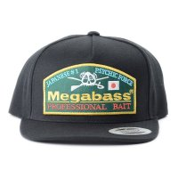 Megabass Black Throwback Trucker Hat