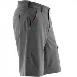"Huk Next Level 10.5"" Shorts Charcoal Gray Side"