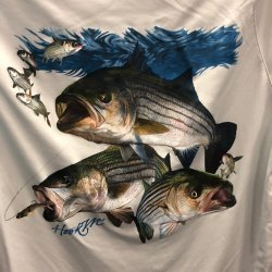 Bimini Bay Outfitters Striped Bass Long Sleeve Performance Shirt BTY