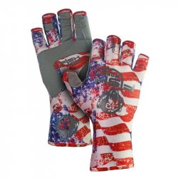 Fish Monkey Half Finger Guide Gloves Americana