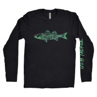 J&H Tackle Haunted Montauk Long Sleeve T-Shirt Front