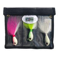 S&S John Skinner Swing Fluke Bucktail Bundle 3 Pack