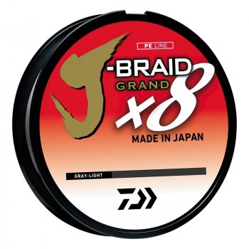 Daiwa J-Braid Grand Braided Line Filler Gray Light