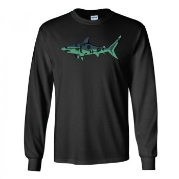 J&H Tackle Zombie Shark Long Sleeve Shirt Front