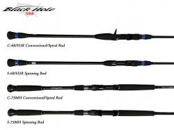 Black Hole USA Charter Special Rods Handles