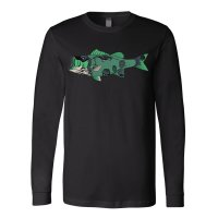 J&H Tackle Zombie Largemouth Bass Long Sleeve T-Shirt Front
