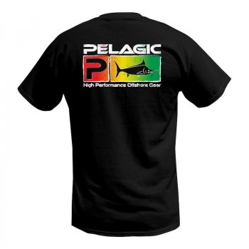 Pelagic Deluxe Rasta Fade Fishing T-Shirt Rear