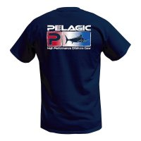 Pelagic Deluxe USA Fade Fishing T-Shirt Rear