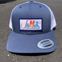 J&H Tackle Wave Logo Trucker Snapback Front