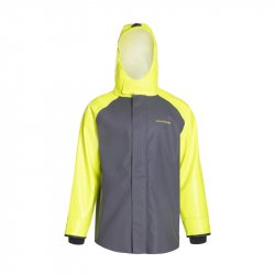 Grundens Hauler Jacket Hi-Vis Yellow Grey Front