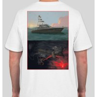 J&H Tackle Sportfisher T-Shirt White Back
