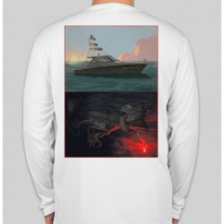 J&H Tackle Sportfisher Performance Shirt White Back