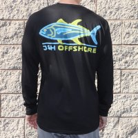 J&H Tackle Neon Tuna Long Sleeve Tee Back