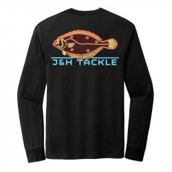J&H Tackle Neon Fluke LS T-Shirt Back