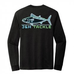 J&H Tackle Neon Albie LS T-Shirt Back