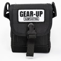 Gear-Up 2-Tube Mini Surf Bag Front Black