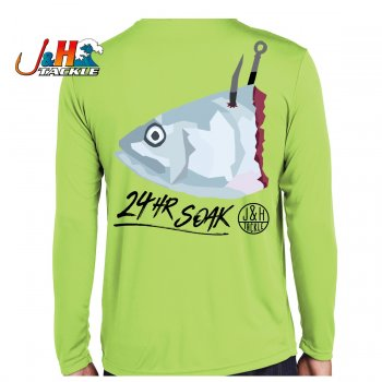 Bunker Chunk Performance Shirt Mockup Rear Lime