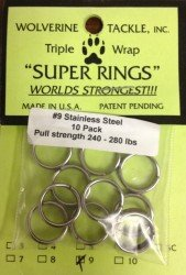 Wolverine Split Rings #9 - 240-280 lb