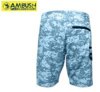 Pelagic Ambush Boardshorts 240 Blue Camo Backside View