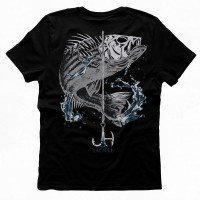 J&H Tackle Striped Bass T-Shirt Black REV