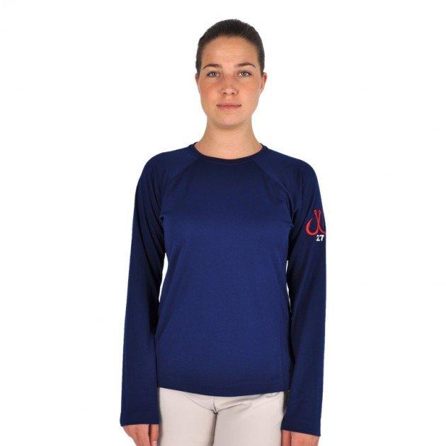 8712517f Montauk Tackle Company Women's Long Sleeve Performance Crew Neck Shirt