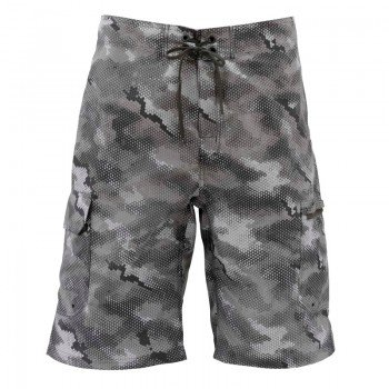 Simms Surf Shorts Hex Camo Sterling